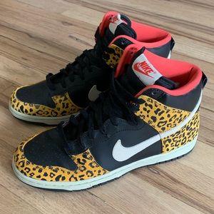 Nike Dunk High Skinny Sneakers - Leopard Print
